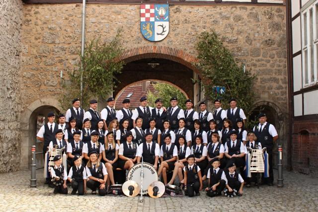 Gruppenbild des Spielmannszuges Walkenried 2012