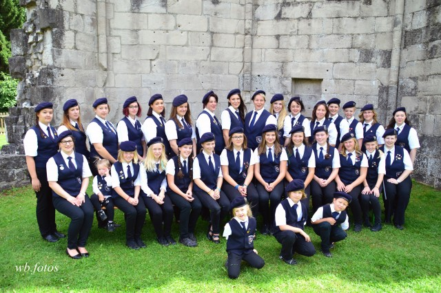 Gruppenbild der Frauen des Spielmannszuges Walkenried 2016