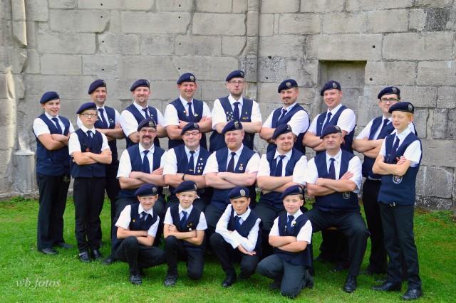 Gruppenbild der Männer des Spielmannszuges Walkenried 2016